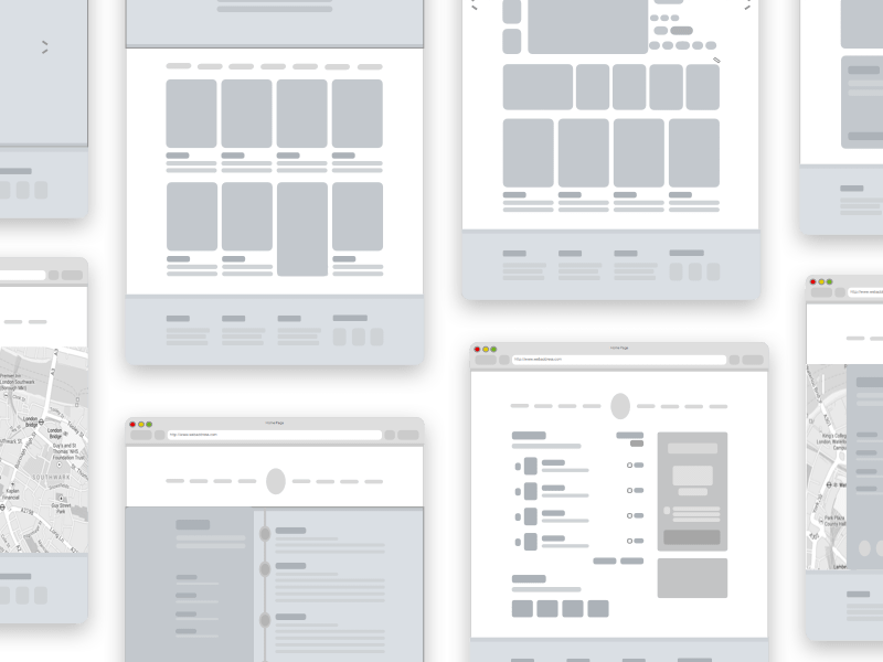 Simple Shapes Wireframe