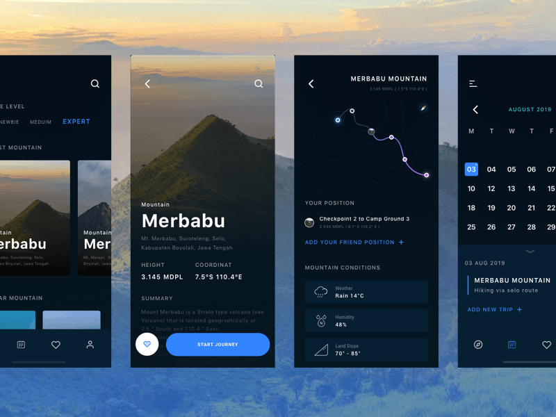 Mountain Trip Guide App