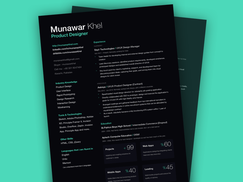 Dark Resume Template