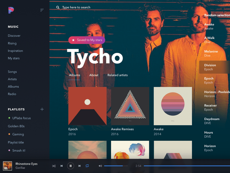 Music Player Concept