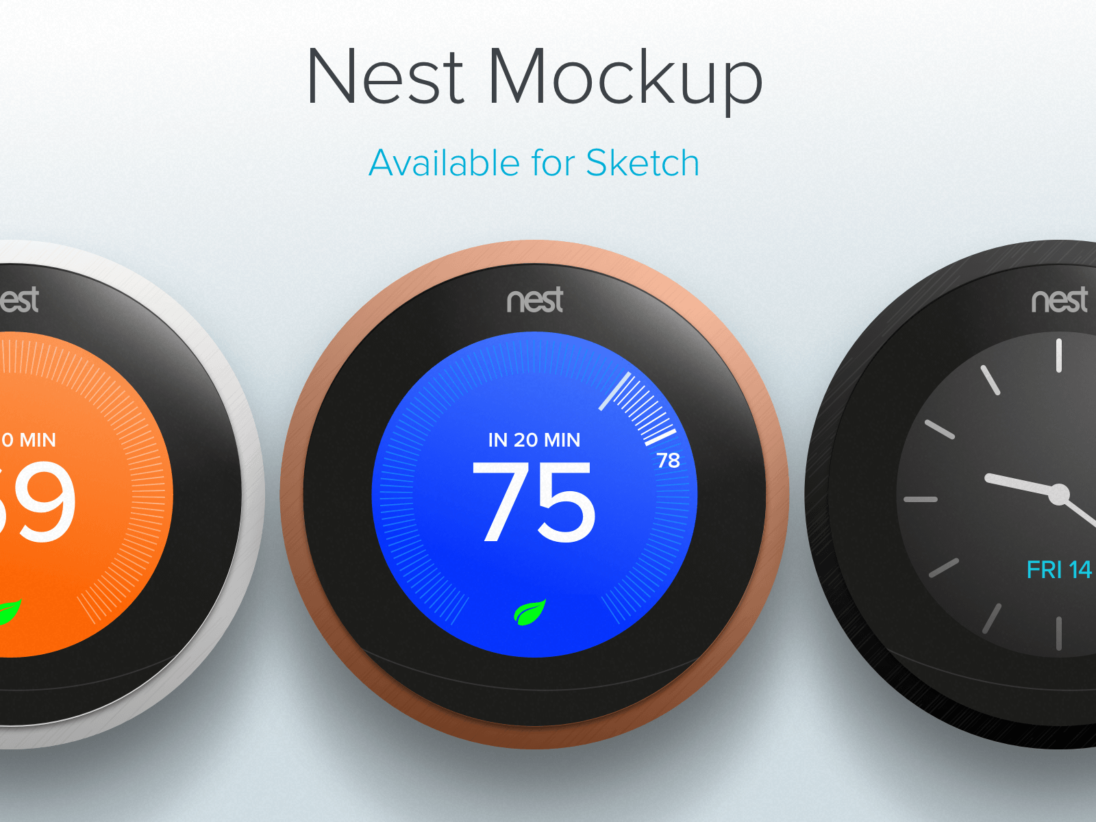 Nest Thermostat Mockup