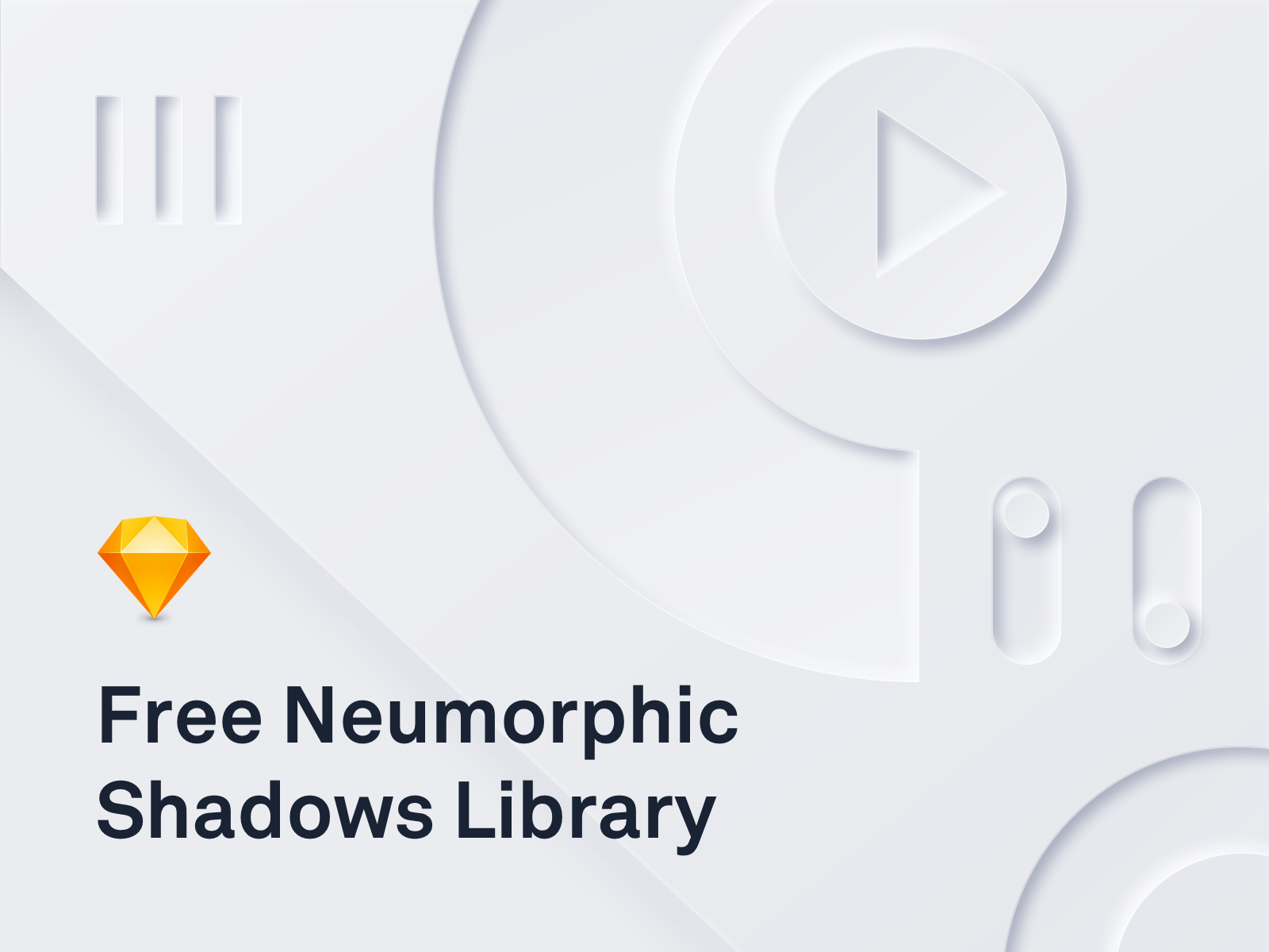 Neumorphic Library with 8 Shadows