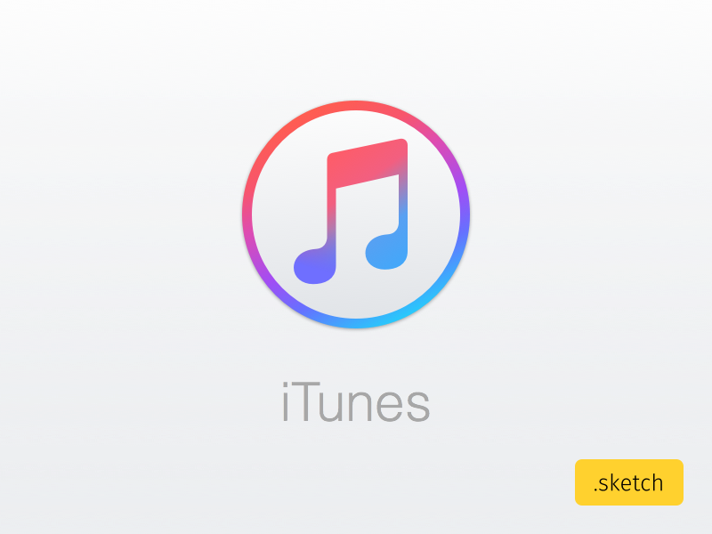New iTunes icon from Apple Sketch freebie - Download free resource