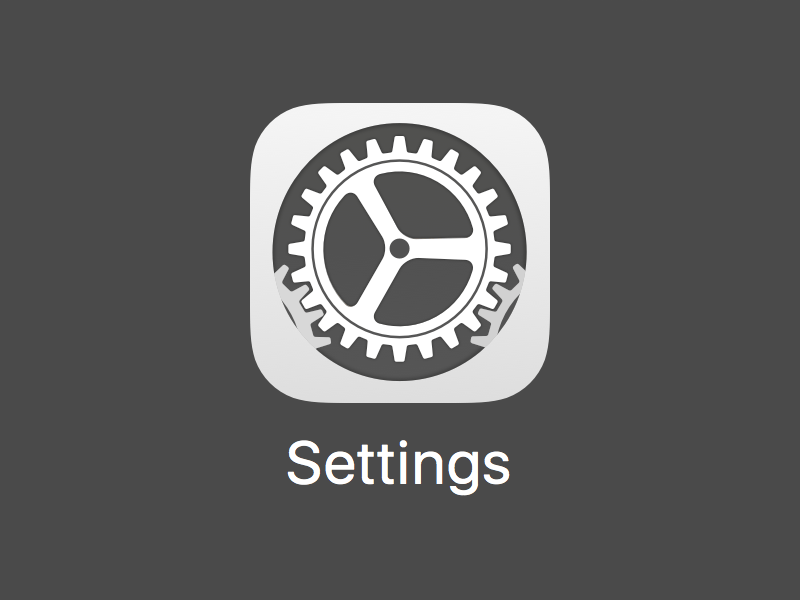 New iOS Settings Icon
