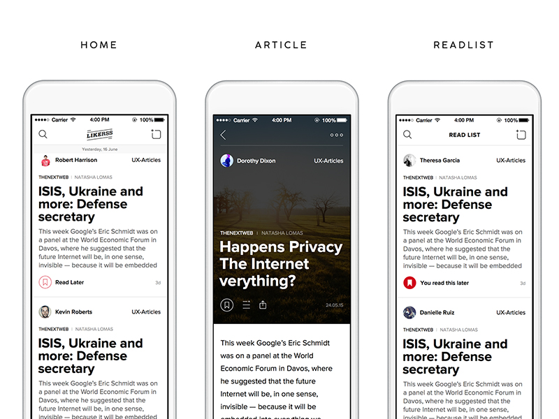 News App Concept LikeRss Sketch freebie - Download free