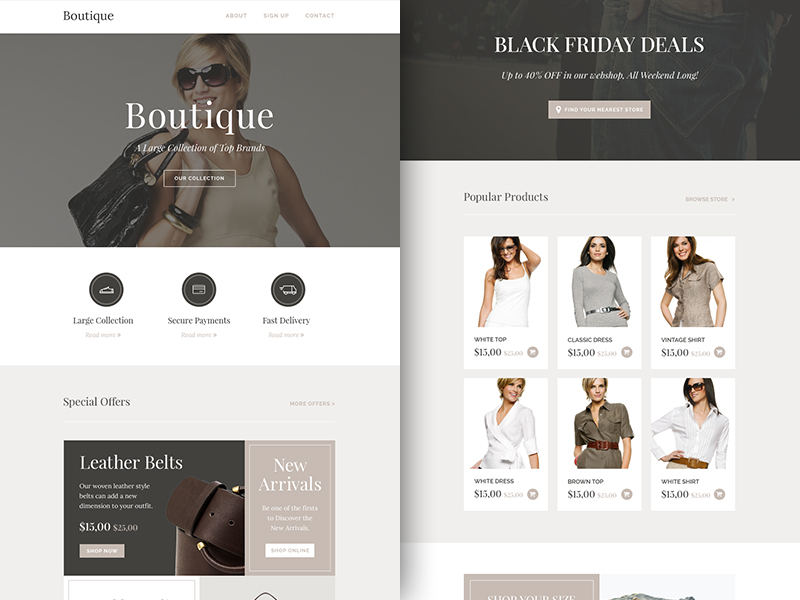 Newsletter Boutique Template