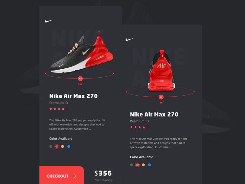 Nike Product Screen Concept