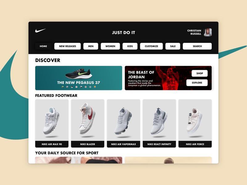Shoes Company Website Concept