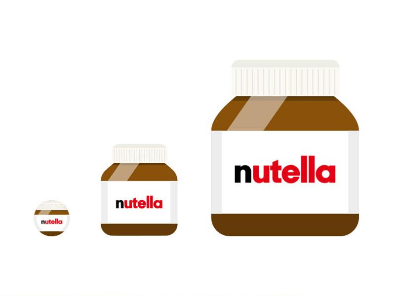 Nutella Jar Illustration Sketch Freebie Download Free