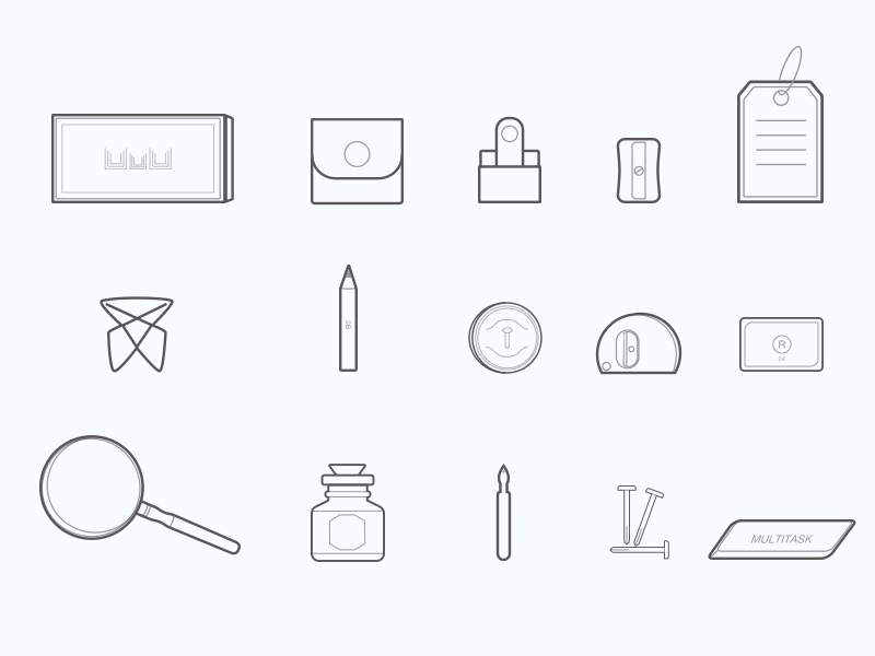 Office Stationary Icon Set