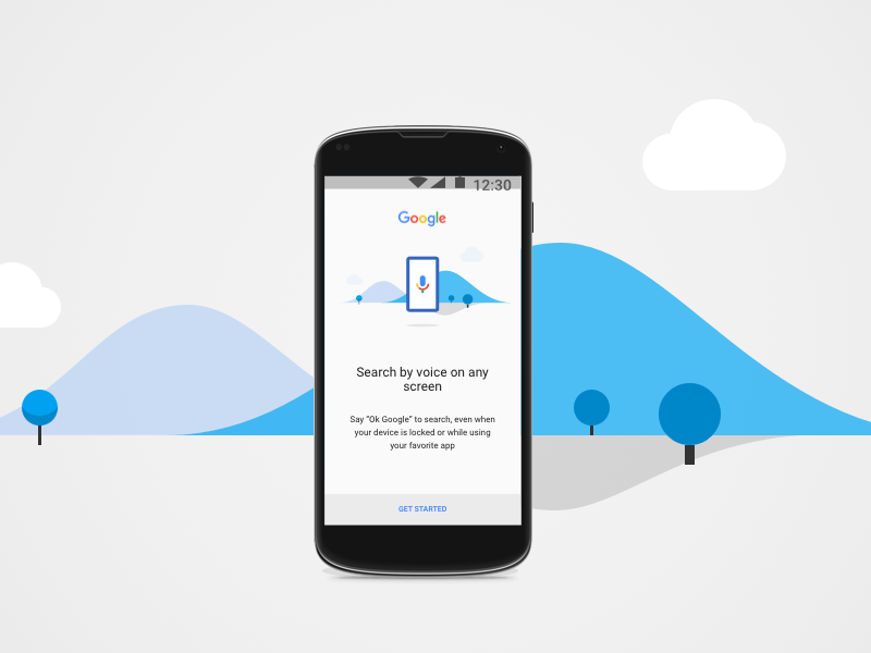 OK Google Onboarding Screen