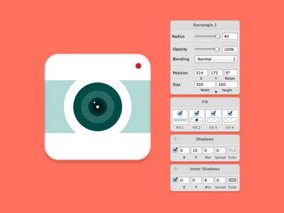 One Layer Style Camera