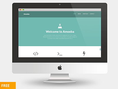 Free one page bootstrap template Amoeba