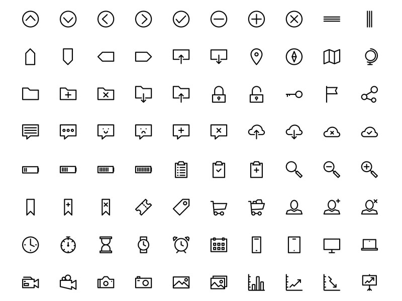700 Outline Icons