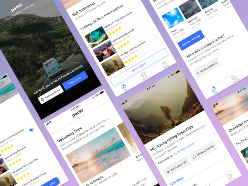 packr travel checklist app