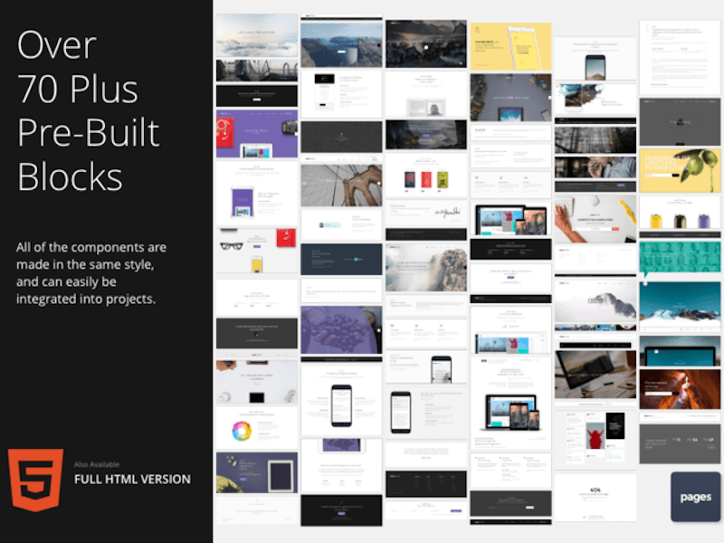 Pages UI Web Kit Sketch freebie - Download free resource for