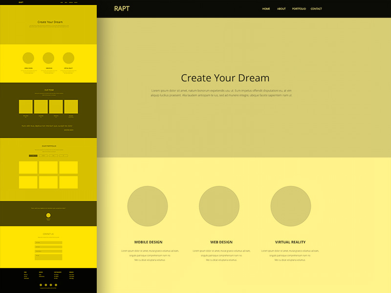 Onepager Website Wireframe