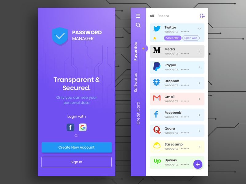 Password Manager Concept