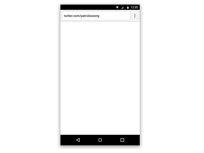 Android Material Design Chrome Web Browser Sketch freebie - Download ...