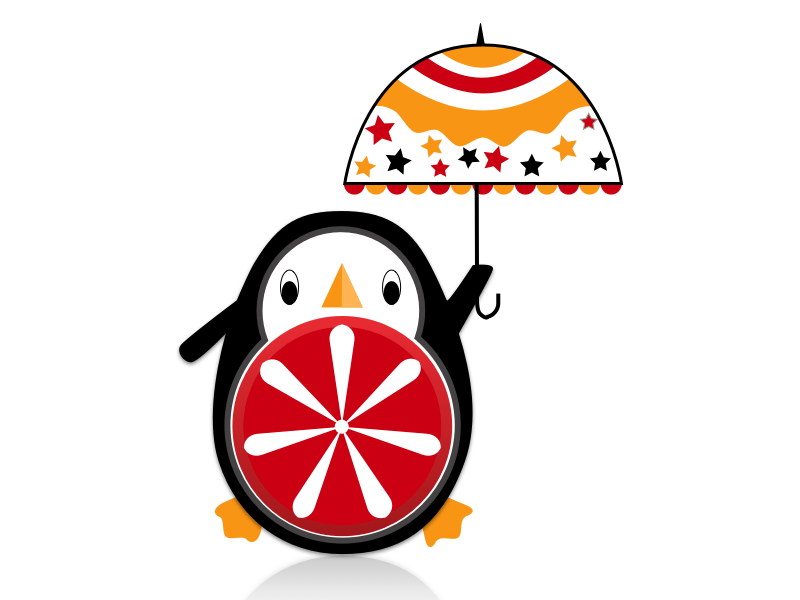 Cute Penguin with Umbrella