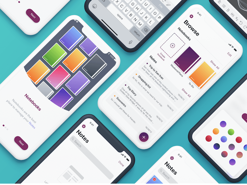 free ios app gui template and flow concepts free resources for