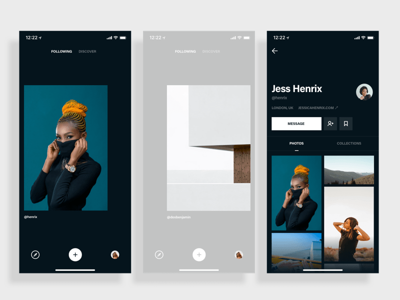 Photo App Browsing Concept
