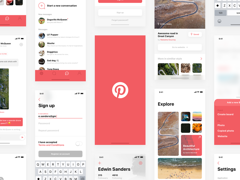 Pinterest iPhone X Concept