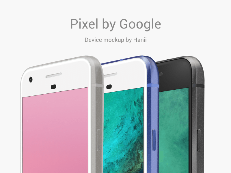 Pixel Phone Device Mockup