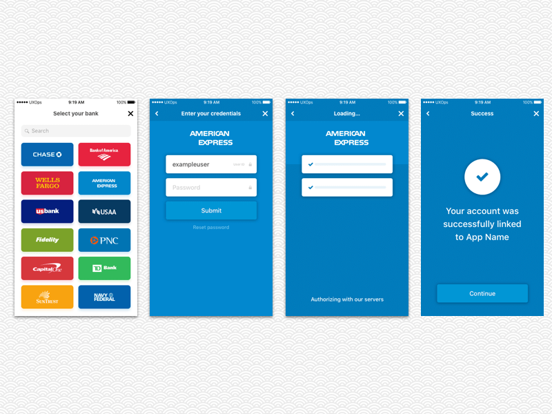 Plaid Auth UX Template