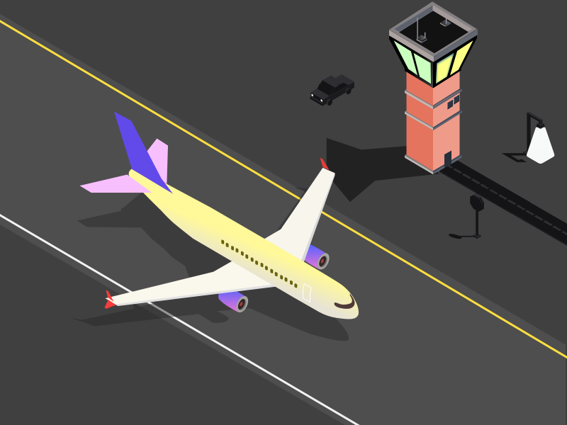Plane Isometric Illustration