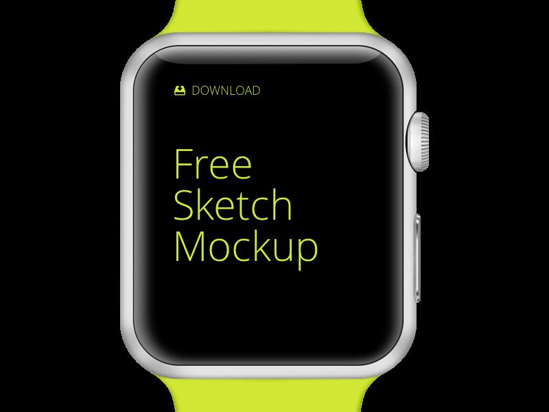 Apple Watch Free Mockup Sketch Freebie Download Free Resource For Sketch Sketch App Sources
