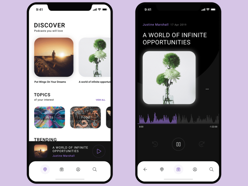 Podcast App Concept