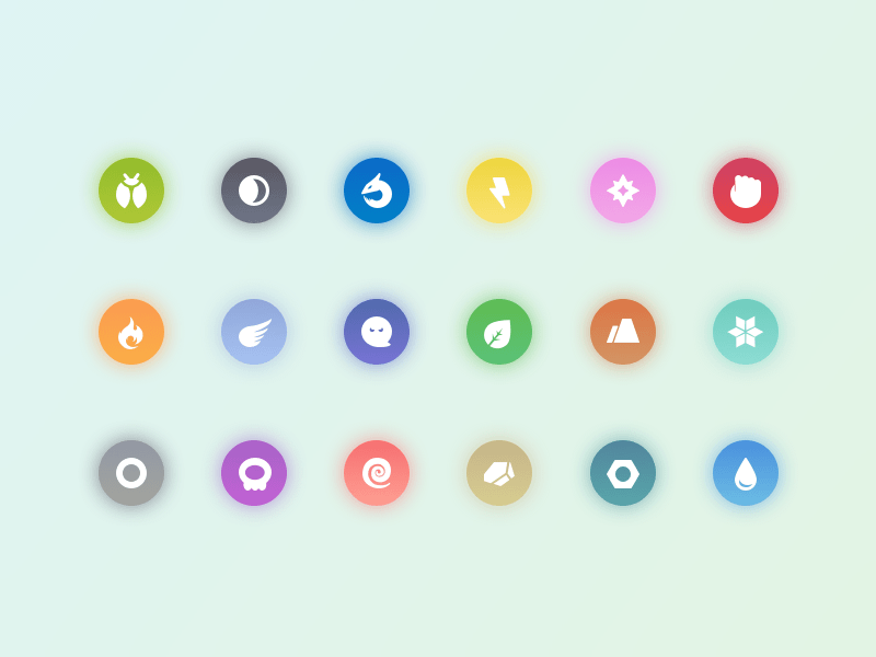 Pokemon Types Icons