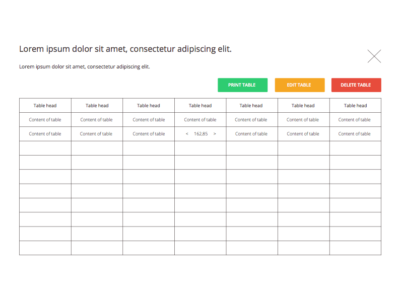 Table template sketch freebie download free resource for for Table design sample