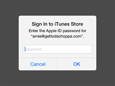 iOS 7 Popup Text Field