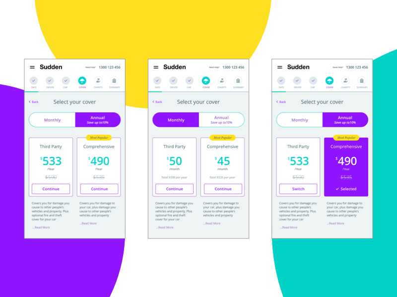 Pricing Page Mobile View