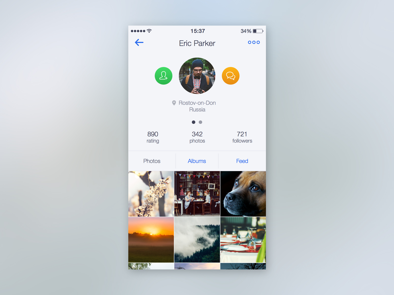 Profile of Photo App