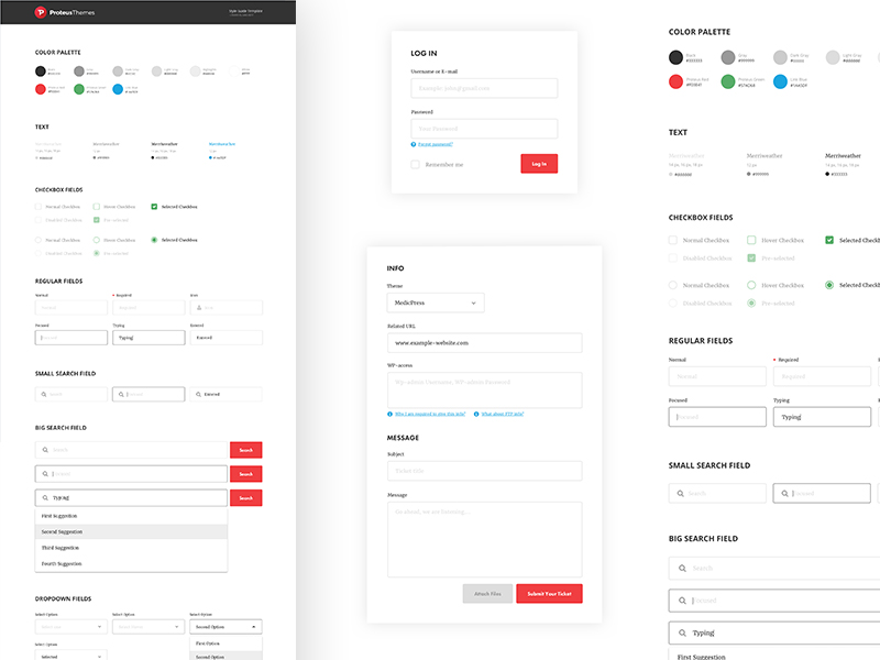Proteus UI Style Guide Kit
