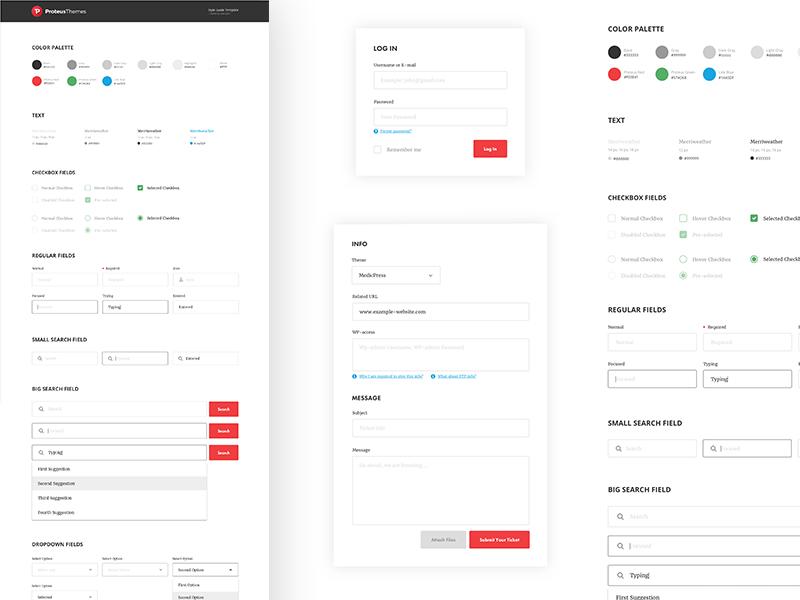 Proteus UI Style Guide Kit