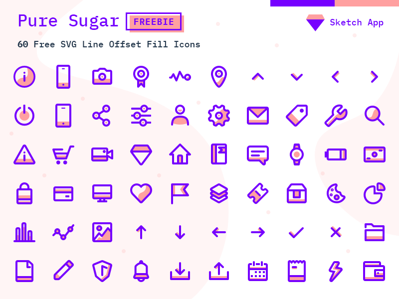 60 Pure Sugar Icons