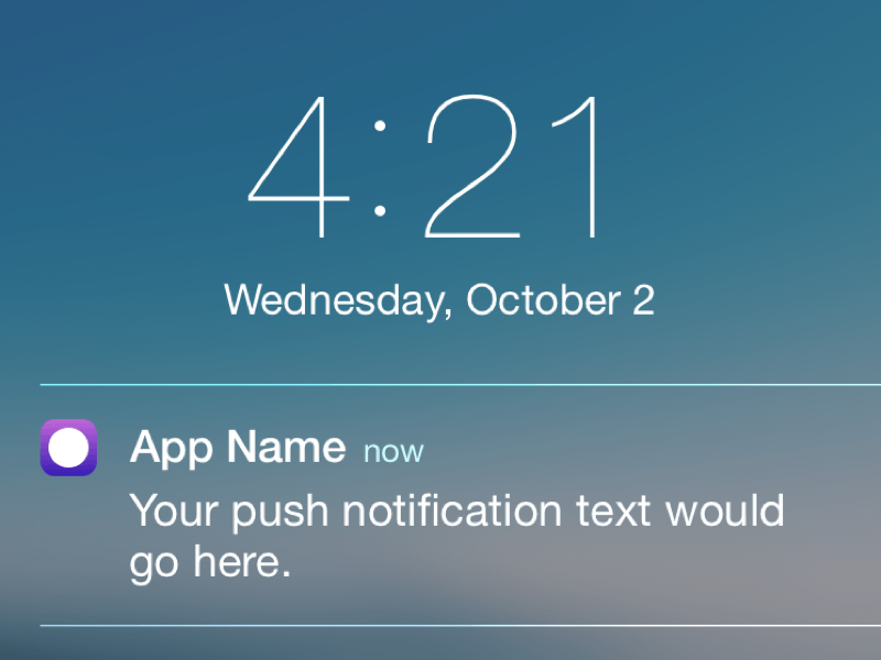 iOS Push Notification Template