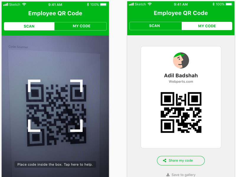QR Code Scan Views Sketch freebie - Download free resource for