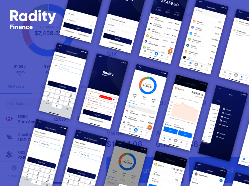Radity Finance UI Kit
