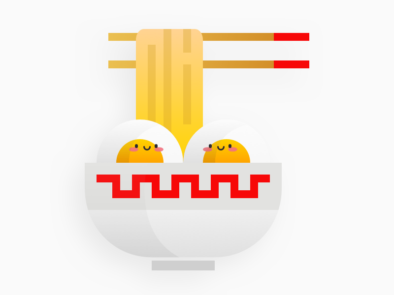Cute Ramen Illustration