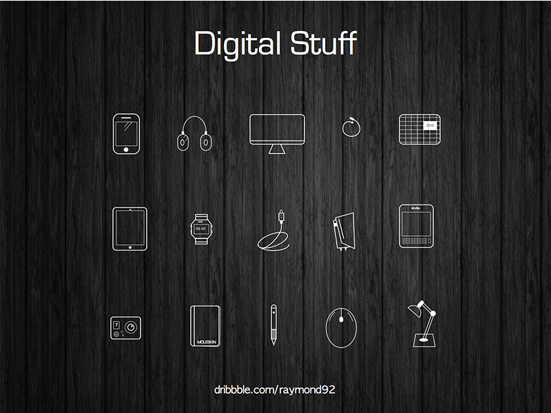 Digital Stuff Icon Set