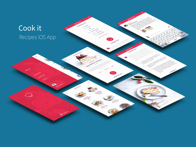 iOS Recipes App UI Kit