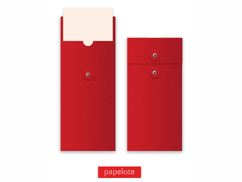 Papelote Red Japan Envelope