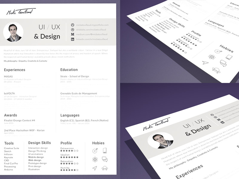 Resume CV Template Sketch freebie Download free resource for