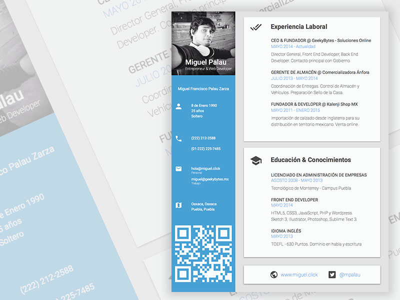cv resume design template sketch freebie