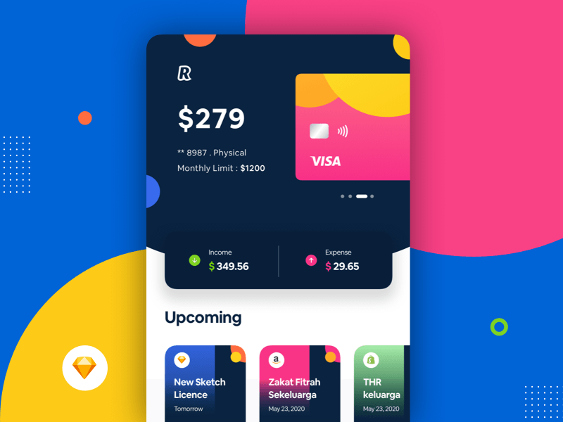 Colorful Banking Screen Concept